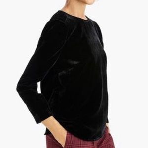 J.Crew Puff-Sleeve Velvet Top